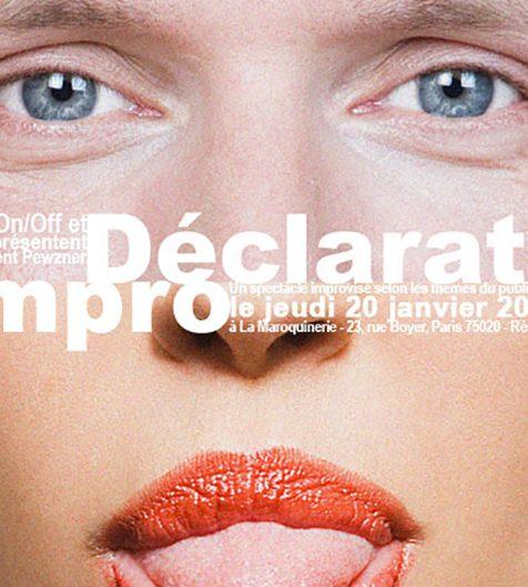 DÉCLARATION D'IMPRO